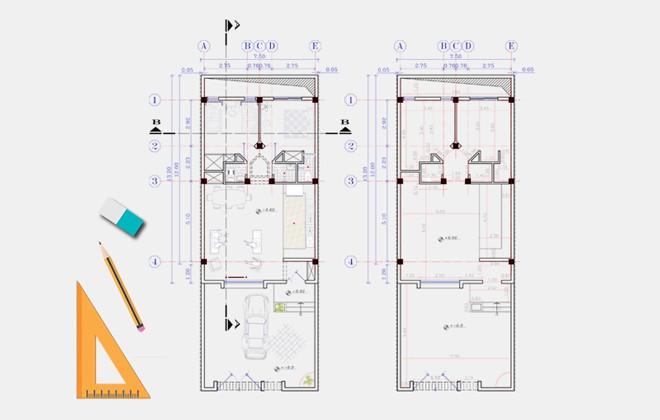 نقشه خانه دو خوابه 90 متری