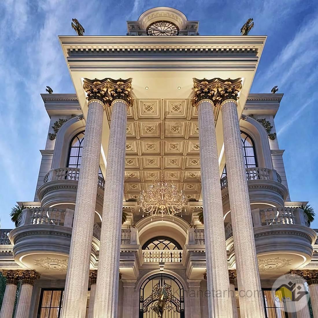 نمای ساختمان رومی